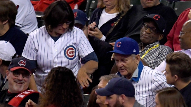 Bill Murray Brings Ticketless Cubs Fan With Him to Game 6