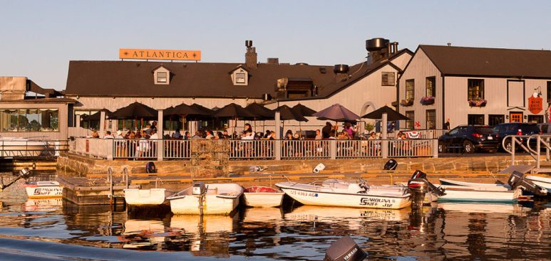 Patio at Olde Salt House in Cohasset Falls Into Sea
